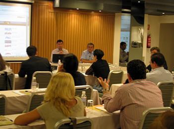 Impartiendo el curso Marketing Meeting con Roberto Cerrada. MAdrid. Mayo-2009